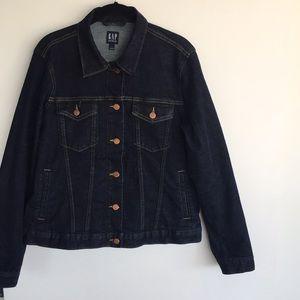 GAP denim dark wash jean jacket